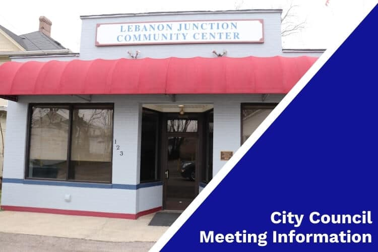 """Lebanon Junction Community Center with """"City Council Meeting Information"""" on image sidebar"""